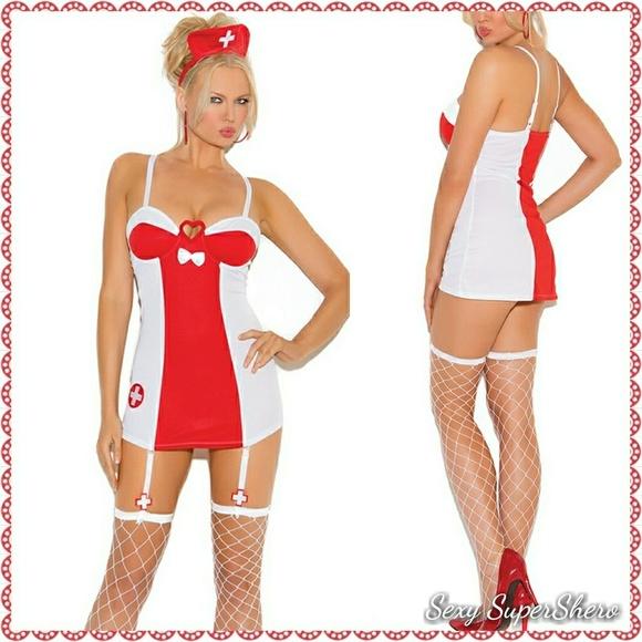 ffe217fd6bb 💣Sexy Nurse 3 pc Mini dress costume  Lingerie